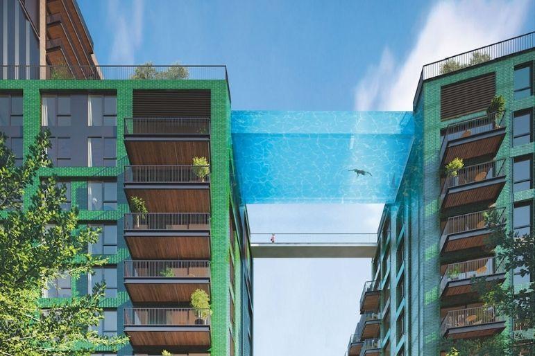 piscina in vetro